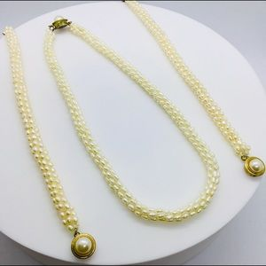 Jewelry - Ladies Pearl Necklace and Bracelets